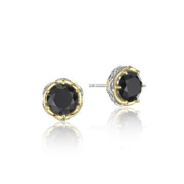 Tacori Sterling Silver & 18k Yellow Gold Crescent Crown Earrings