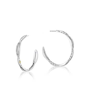 Tacori Sterling Silver Crescent Curve Hoop Earrings