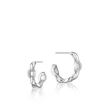 Tacori Silver Mini Crescent Curve Hoop Earrings