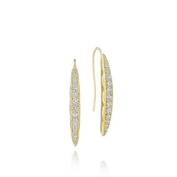 Tacori 18k Yellow Gold Pave Surfboard Drop Earrings
