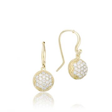 Tacori 18k Yellow Gold Diamond Drop Earrings