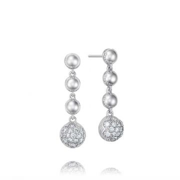 Tacori Silver Cascading Diamond Drop Earrings
