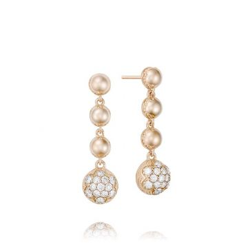 Tacori 18k Rose Gold Cascading Diamond Drop Earrings