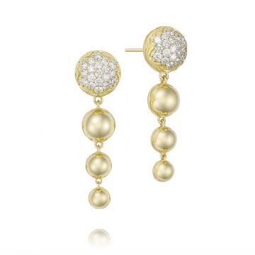 Tacori 18k Yellow Gold Ascending Diamond Drop Earrings