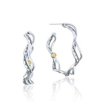 Tacori Silver Wave Hoop Earrings