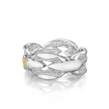 Tacori Silver Bold Crescent Links Ring