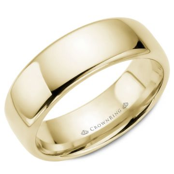 CrownRing 14k Yellow Gold Traditional 7.5mm Wedding band