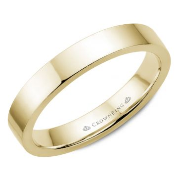 CrownRing 14k Yellow Gold Traditional 4mm Wedding band