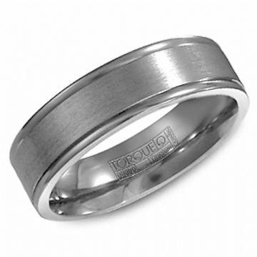 Crown Ring Titanium Classic Wedding Band