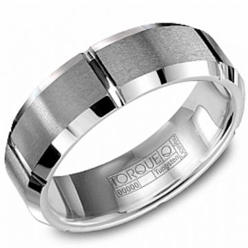 Crown Ring Tungsten Carbide Classic Wedding Band