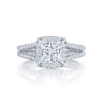 Tacori Platinum Petite Crescent Split Shank Engagement Ring