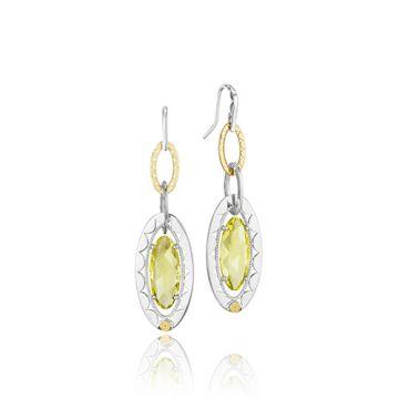 Tacori Sterling Silver & 18k Gold Lemon Quartz Earrings