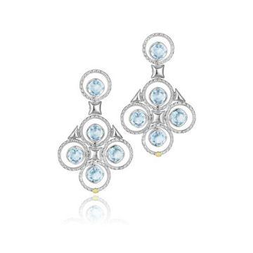 Tacori Sterling Silver Blue Topaz Chandelier Earrings