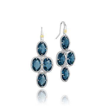 Tacori Sterling Silver Blue Topaz Drop Earrings