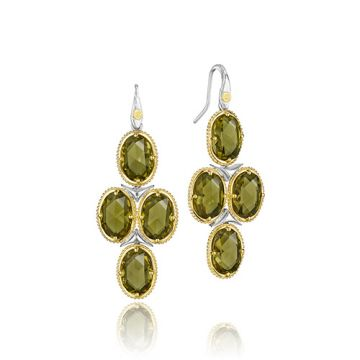 Tacori Sterling Silver Olive Quartz Drop Earrings