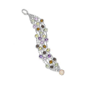 Tacori Cascading Gem Bracelet featuring Assorted Gemstones