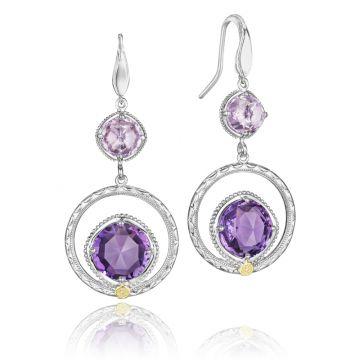 Tacori Gem Ripple Earrings featuring Assorted Gemstones