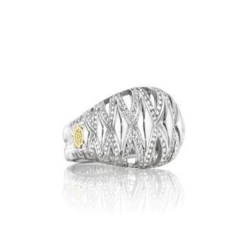 Tacori Classic Rock Collection Silver Petite Crescent Dome Ring