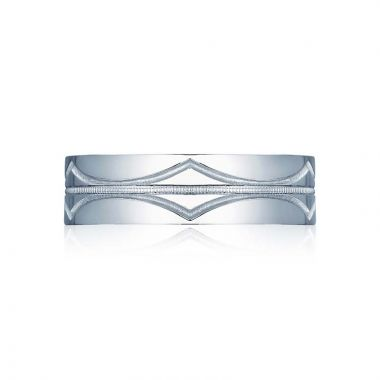 Tacori Platinum Sculpted Crescent Classic Wedding Band