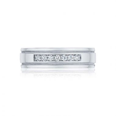Tacori Platinum Sculpted Crescent Classic Wedding Band