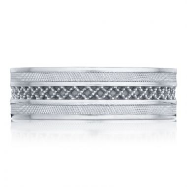 Tacori Platinum Decorative Carved Men's Wedding Band
