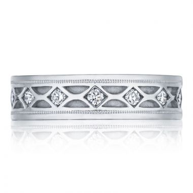 Tacori Platinum Decorative Men's Wedding Band