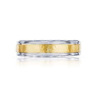 Tacori 18k Gold Platinum Sculpted Crescent Wedding Band