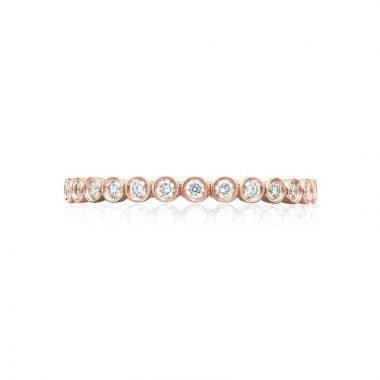Tacori 18k Rose Gold Sculpted Crescent Anniversary Wedding Band
