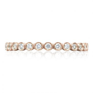 Tacori 18k Rose Gold Sculpted Crescent Anniversary Diamond Women's Wedding Band