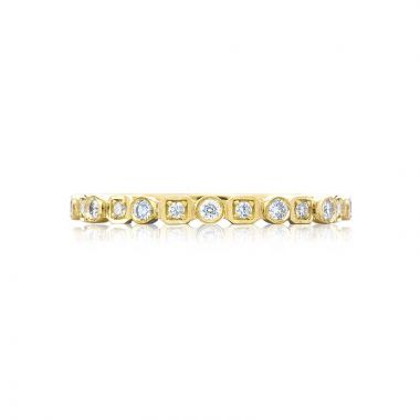Tacori 18k Yellow Gold Sculpted Crescent Anniversary Wedding Band