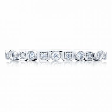 Tacori Platinum Sculpted Crescent Anniversary Diamond Women's Wedding Band
