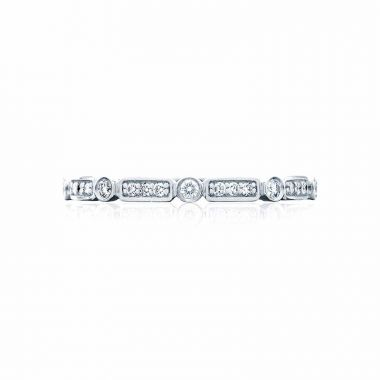 Tacori Platinum Sculpted Crescent Diamond Wedding Band