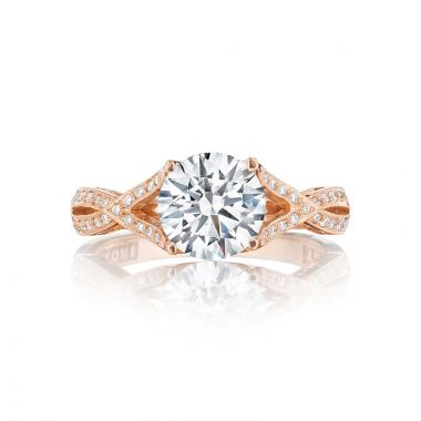Tacori 18k Rose Gold Ribbon Criss Cross Engagement Ring