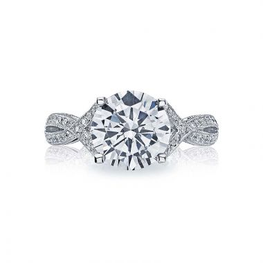 Tacori Platinum Ribbon Criss Cross Engagement Ring