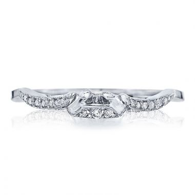Tacori Platinum Ribbon Diamond Curved Women's Wedding Band