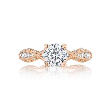 Tacori 18k Rose Gold Classic Crescent Criss Cross Engagement Ring