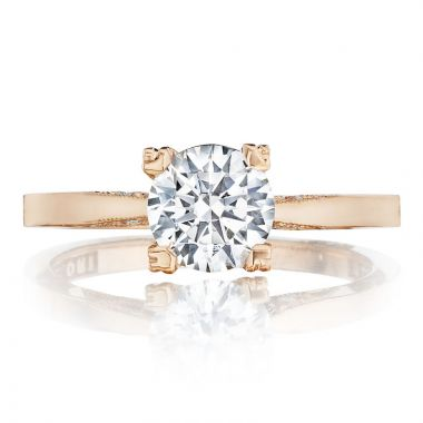Tacori 18k Rose Gold Simply Tacori Diamond Solitaire Engagement Ring