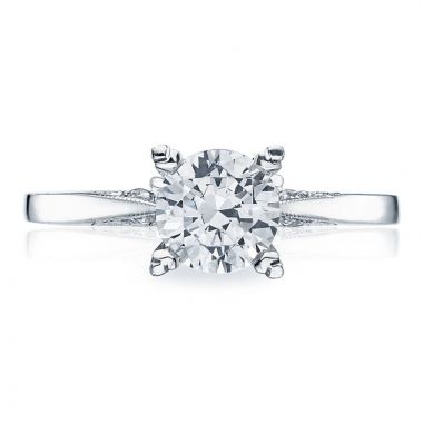 Tacori Platinum Simply Tacori Diamond Solitaire Engagement Ring