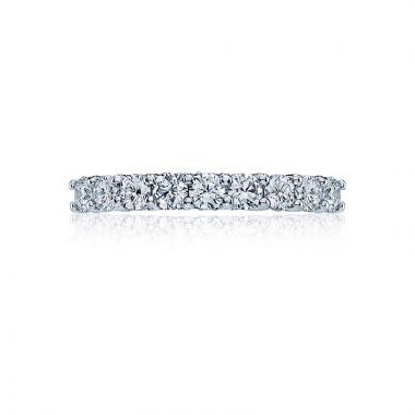 Tacori Platinum Classic Crescent Anniversary Wedding Band