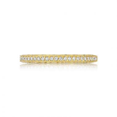 Tacori 18k Yellow Gold Crescent Anniversary Wedding Band
