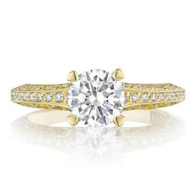 Tacori 18k Yellow Gold Reverse Crescent Straight Diamond Engagement Ring