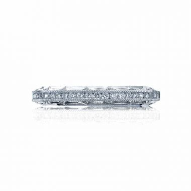 Tacori Platinum Reverse Crescent Anniversary Wedding Band