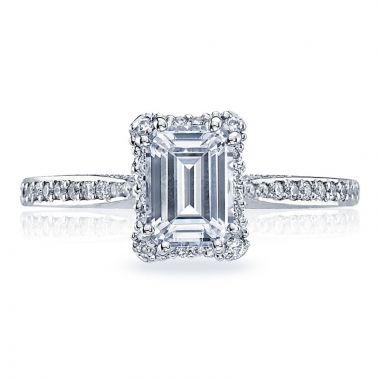 Tacori Platinum Dantela Straight Diamond Engagement Ring
