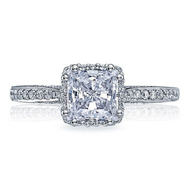 Tacori Platinum Dantela Halo Diamond Engagement Ring