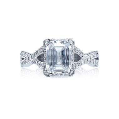 Tacori Dantela Platinum Halo Engagement Ring 2627eclg