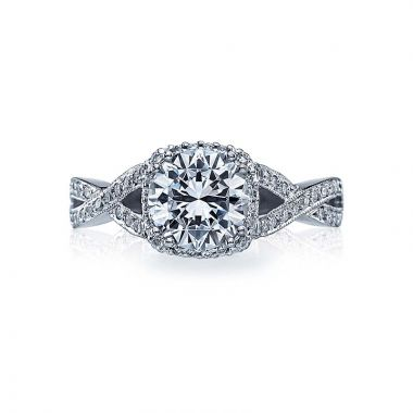 Tacori Platinum Dantela Criss Cross Engagement Ring