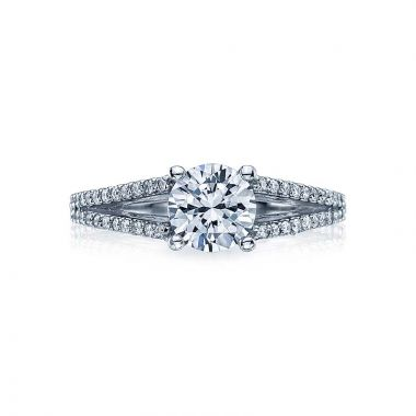Tacori Platinum Simply Tacori Split Shank Engagement Ring