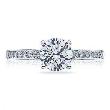 Tacori 18k White Gold Dantela Solitaire Diamond Engagement Ring