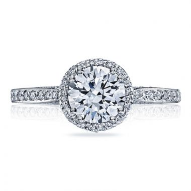Tacori 18k White Gold Dantela Halo Diamond Engagement Ring
