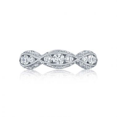 Tacori Platinum Classic Crescent Diamond Wedding Band